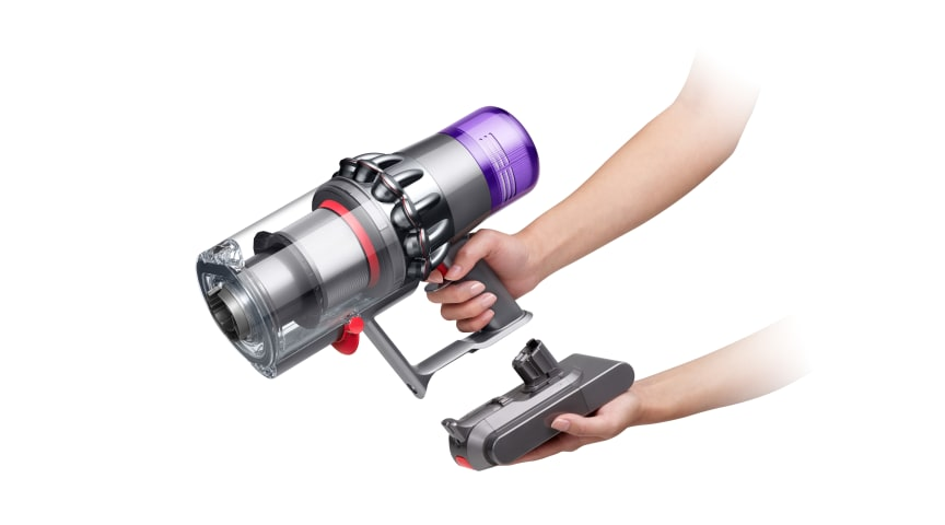 Der Dyson V11 Absolute Extra Pro mit Click-in-Akku.
