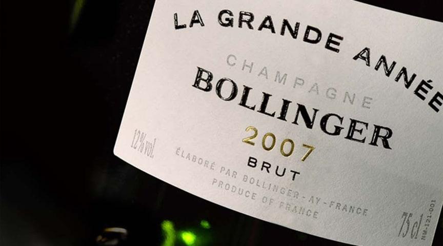 Bollinger La Grande Année 2007 finns nu på Systembolaget