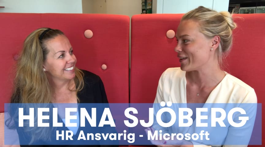 Microsoft's chefer coachas av studenter! Här med HR-chefen Helena Sjöberg