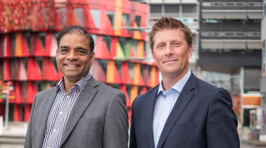 Joseph Andersson, Business Unit Manager på Sigma Global Sourcing och Henrik Larsson, Business Area Manager på Sigma IT.