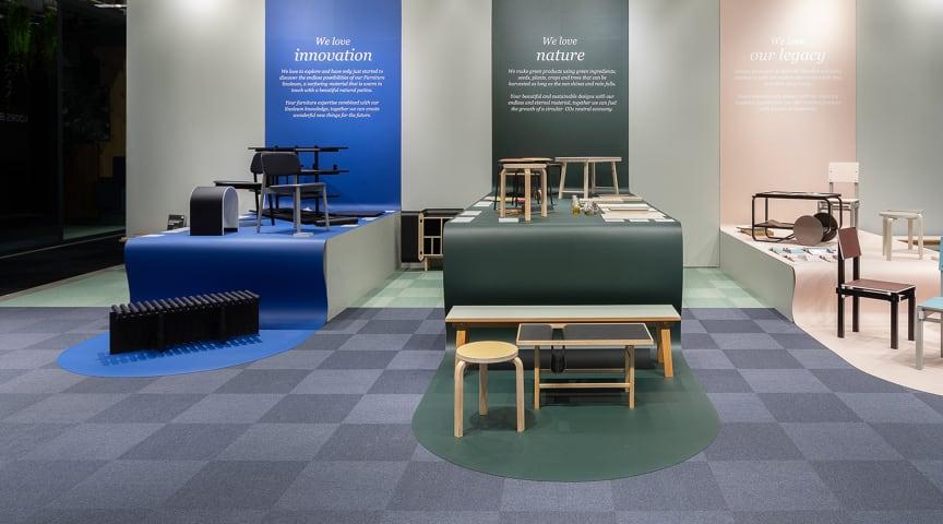 Forbos monter på Stockholm Furniture Fair 2020