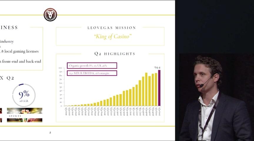 Philip Doftvik presenting LeoVegas