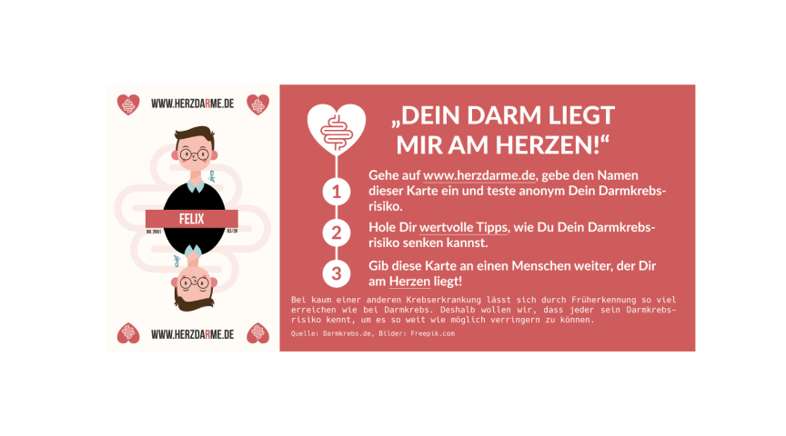 Darmkrebsmonat Marz Deutschland Spielt Herzdarme Felix Burda