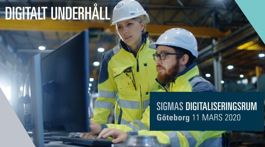 Sigma pratar digitaliserat underhåll i samband med Underhållsmässan 11 mars