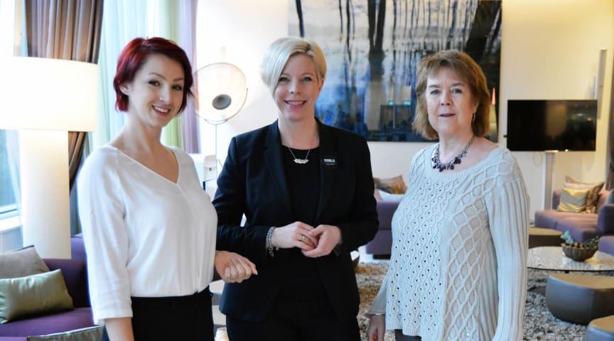 Selma Koso Kvinnojouren, Pernilla Johansson Clarion Arlanda och Marie Unander-Scharin Kvinnojouren