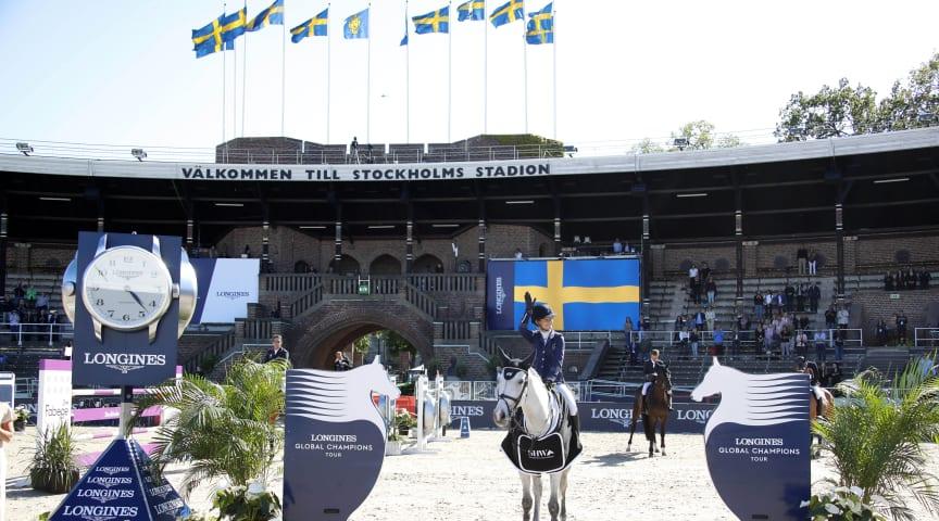 12-14 juni 2020 blir det återigen hästfest på Stockholms Stadion när världseliten gör upp i flera spännande hoppklasser. Foto: Stefano Grasso/LGCT
