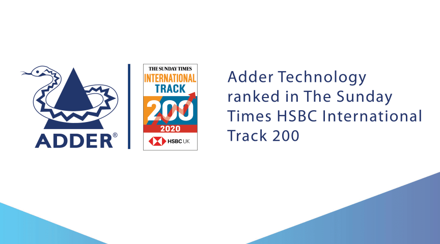 Adder recognized in The Sunday Times HSBC International Track 200