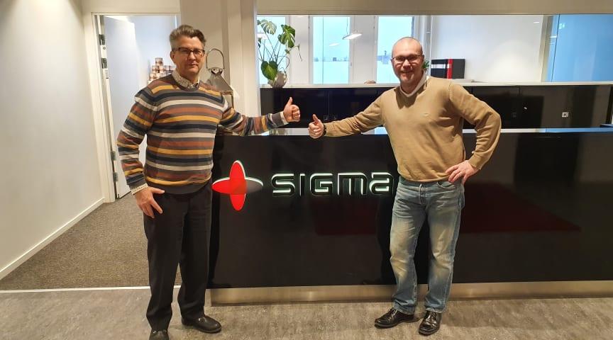 Jonas Örmin, sektionschef Produktionsutveckling och Joachim Jillehed, regionchef Norr