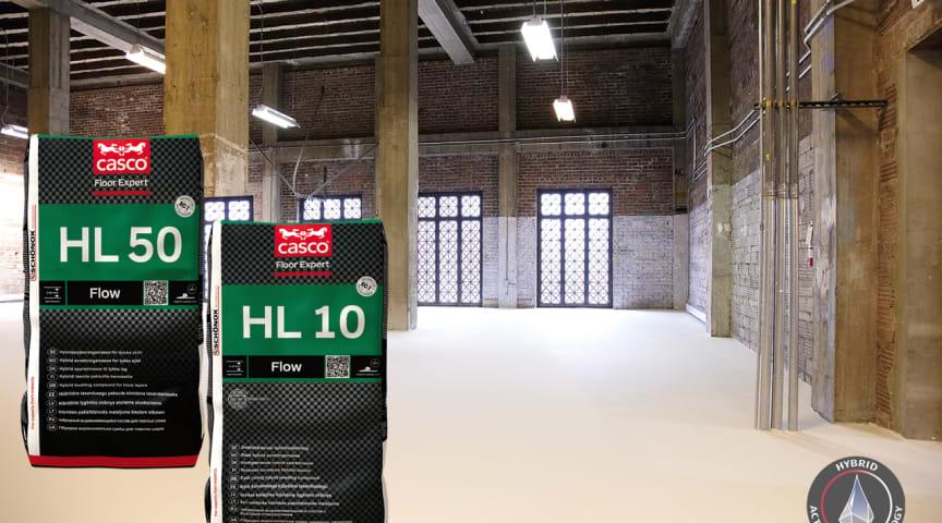 HL10 och HL50 – Golvspackel som är beläggningsbara redan efter 6 timmar.