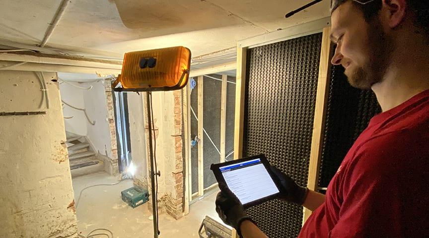 AddMobiles arbetsordersystem i användning på fältet. Foto: Elaffären i Vinberg AB.