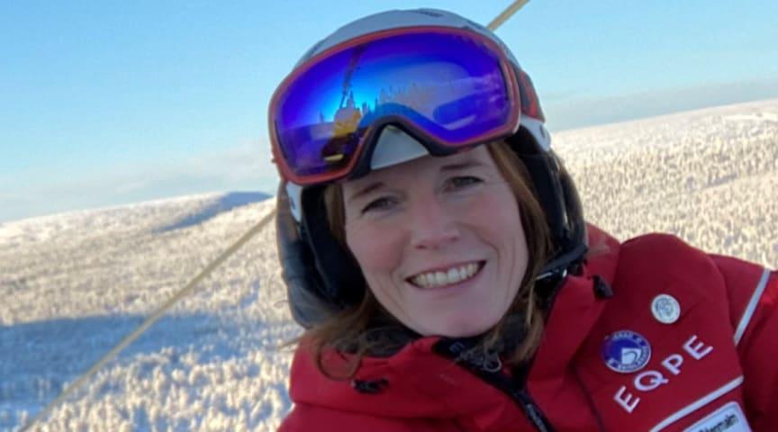 Marie Stenmalm har 23 års erfarenhet som skidinstruktör.