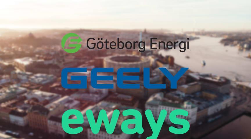 Geely väljer Eways som laddoperatör i samarbete med Göteborg Energi