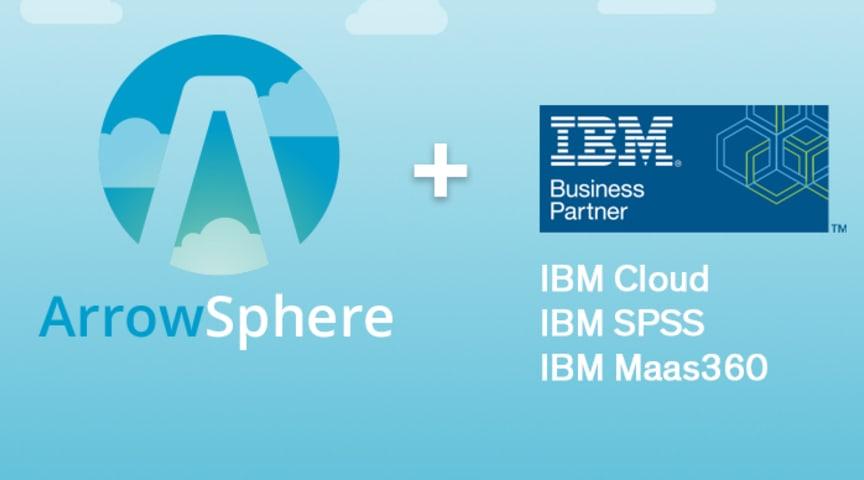 IBMs molnlösningar finns nu tillgängliga i molnplattformen ArrowSphere