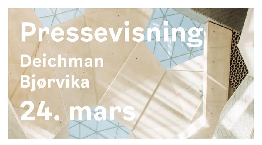 Utsatt: Pressevisning av Deichman Bjørvika 24. mars