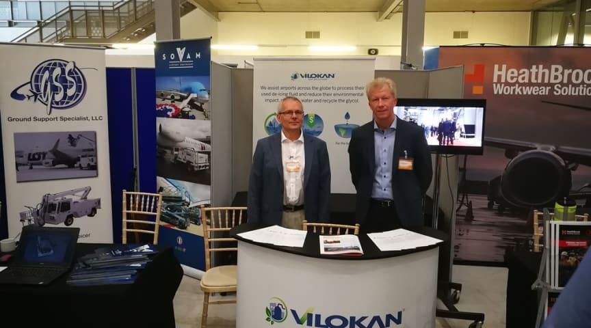 Lars Mörnborg och Thomas Bergström i Vilokan ADF Solutions monter.