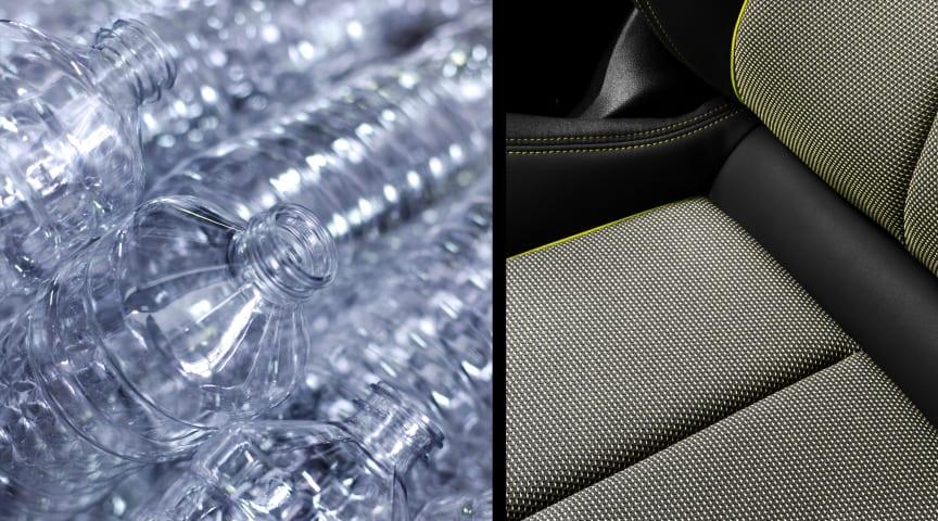 Sædeindtræk af plastikflasker