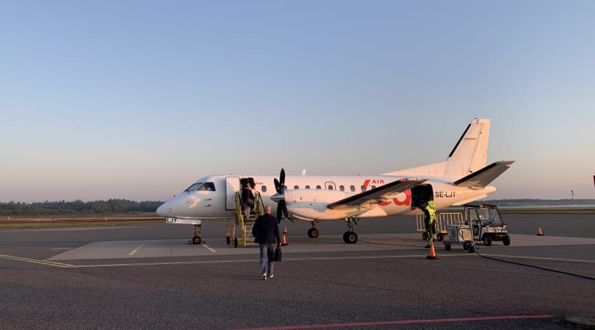 Air Leaps flygplan, Foto: Jönköping Airport