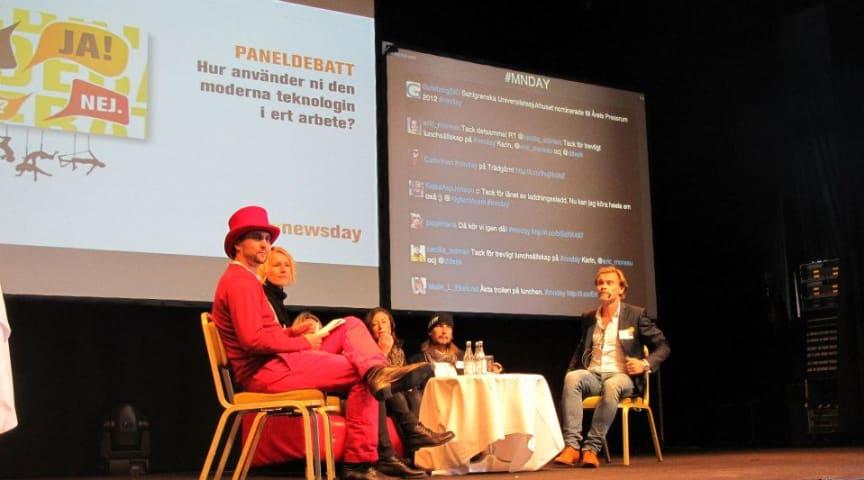 Paneldeltagarna på Mynewsday i Stockholm 2013