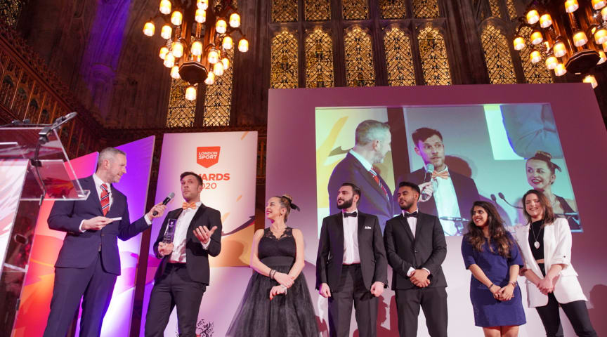 Ten inspirational winners who make their mark on the capital lift London Sport Awards trophies at Guildhall