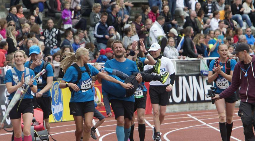 Målgång Stockholm Marathon 2017