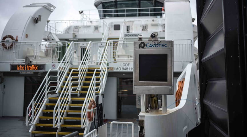 An APS solution already installed at a ferry berth in Oslo.
