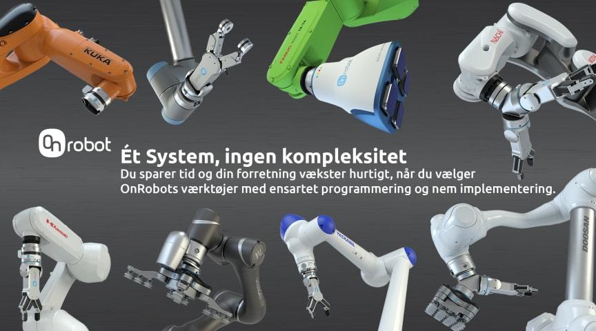 OnRobots One-System løsning  løfter robotkompatibilitet til et nyt niveau