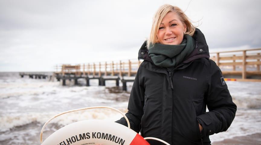 Elle Olsson är badmästare i Ängelholms kommun och initiativtagare till ansökan om certifiering om vattensäker kommun.