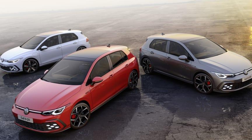 Volkswagen viser på Genéve Motor Show tre nye sportslige varianter af Golf 8 – Golf GTE, Golf GTI og Golf GTD