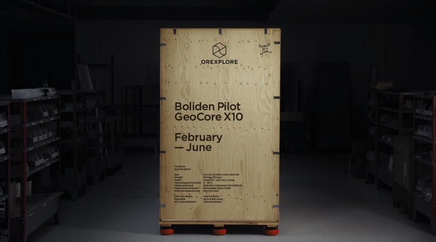 The GeoCore X10 packed and ready for shipping