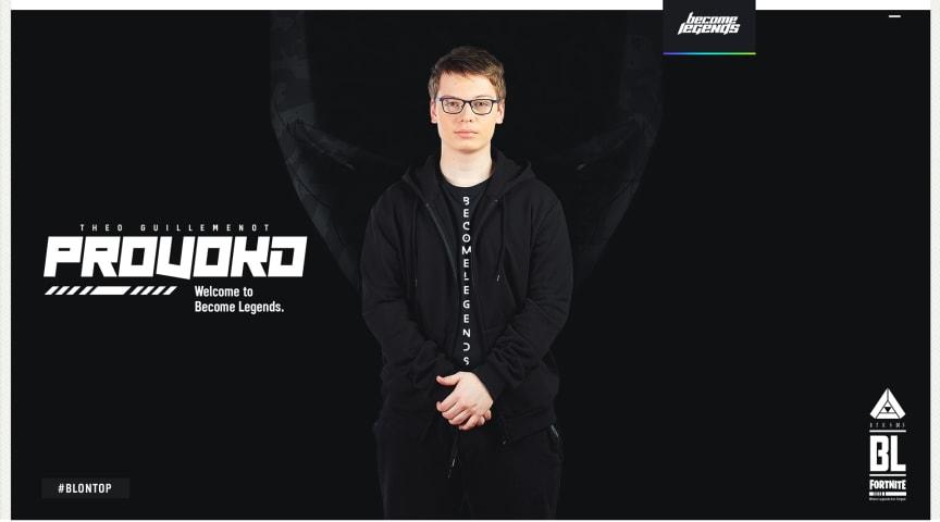 """Théo """"pr0vokd"""" Guillemenot, profesjonell Fortnite spiller for Become Legends."""