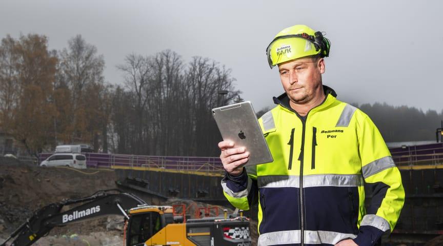 Per Björklund, operativt ansvarig för maskiner och inköp på Bellmans Åkeri & Entreprenad i Stockholm
