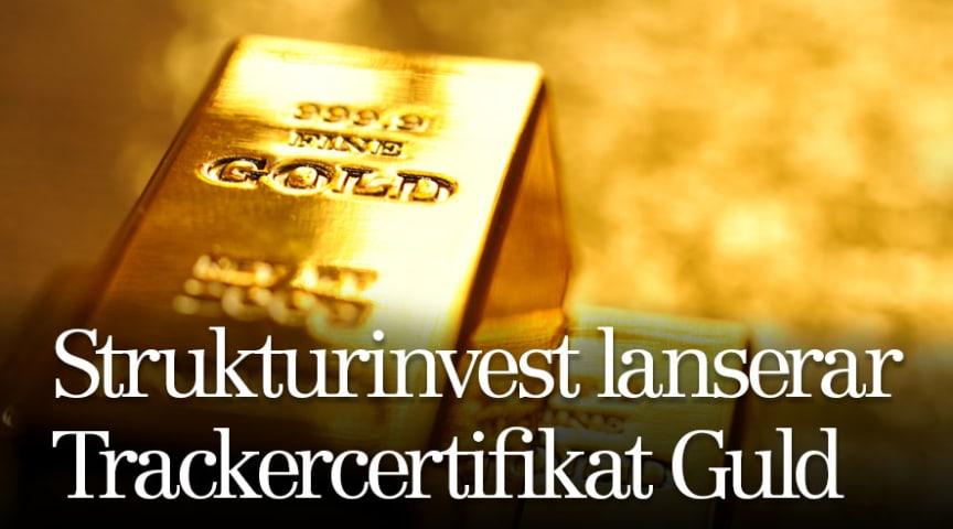 Strukturinvest lanserar Trackercertifikat Guld