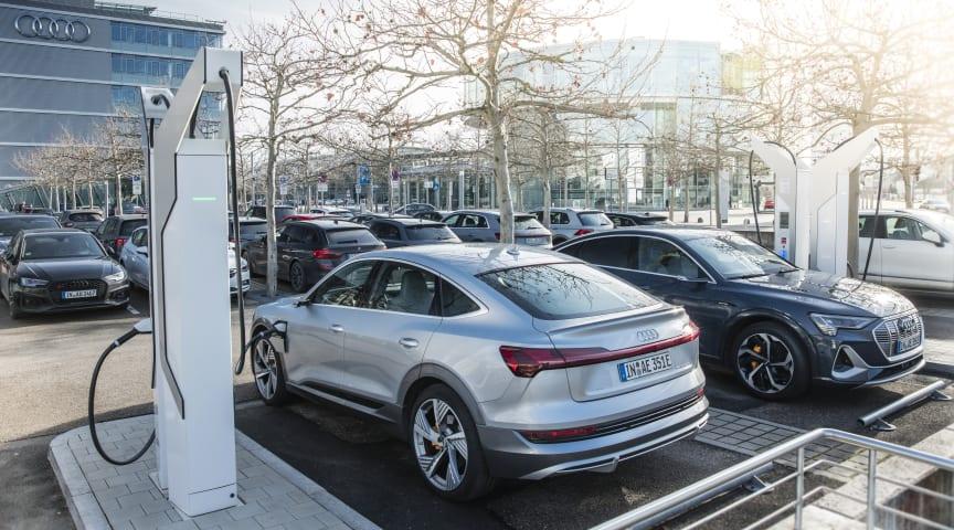 Audi investerer 100 mio € i ladeinfrastruktur på egne fabrikker