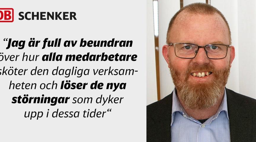 Björn Eriksson, Head of Business Services Division Land på DB Schenker