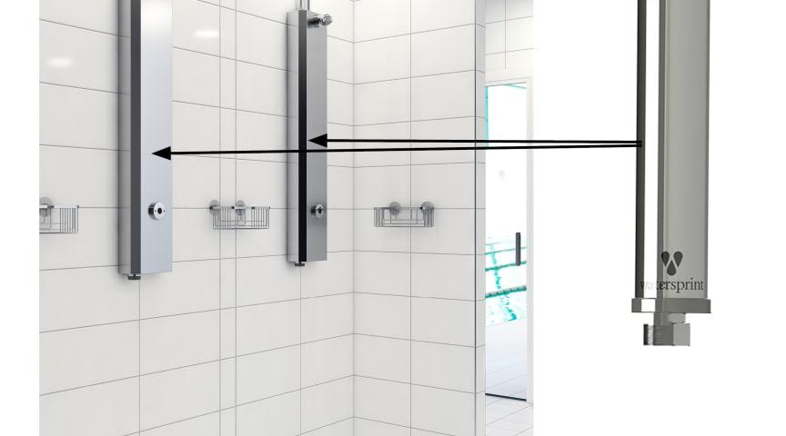 FM Mattssons duschpaneler tillsammans med Watersprints UV LED-teknik.