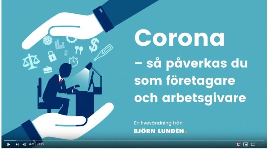 Corona – så påverkas du som företagare och arbetsgivare