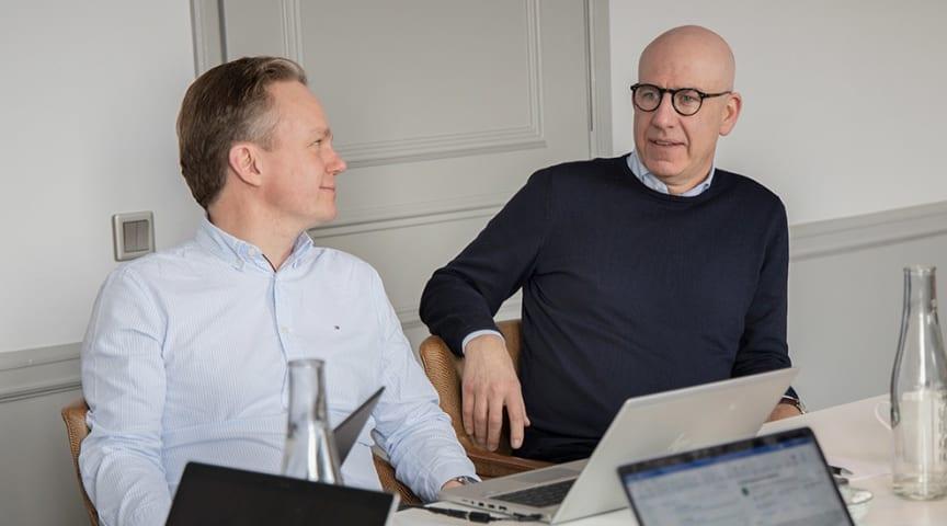 Christian Wibeck och Henrik Sund på nyskapade bolaget Shibuya, en del av Pulsenkoncernen. (Foto: Nadia Tahir/Pulsen)