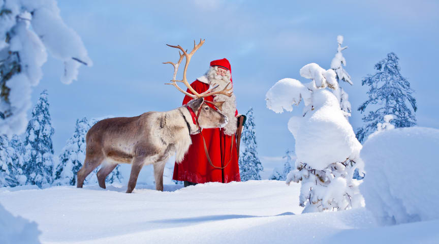 Santa Claus started his journey around the world on 23rd December