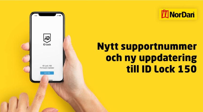 Nytt supportnummer och ny uppdatering till ID Lock 150