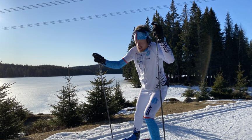 Eirik Asdøl fra Team Norocnsult gikk nesten 400 km. på ski på en og samme tur i helgen. (Foto: Team Norconsult)