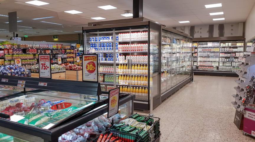 TESAB företag fixar hållbar kyla till Ica supermarket butik