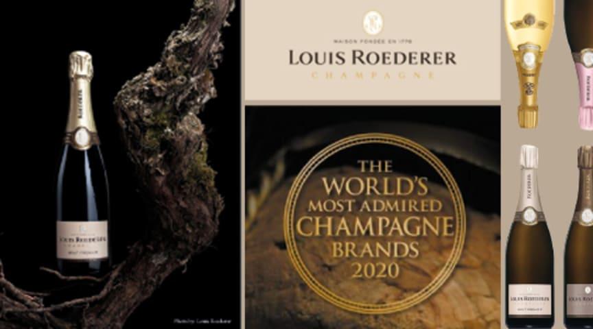 Louis Roederer är utsett till världens mest beundrade champagnehus!