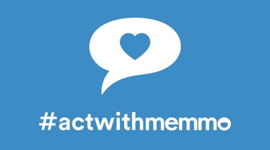 Initiativet #actwithmemmo som samlar in pengar till förmån för WHO:s fond för att stoppa smittspridningen och stärka vårdinsatserna under coronakrisen.