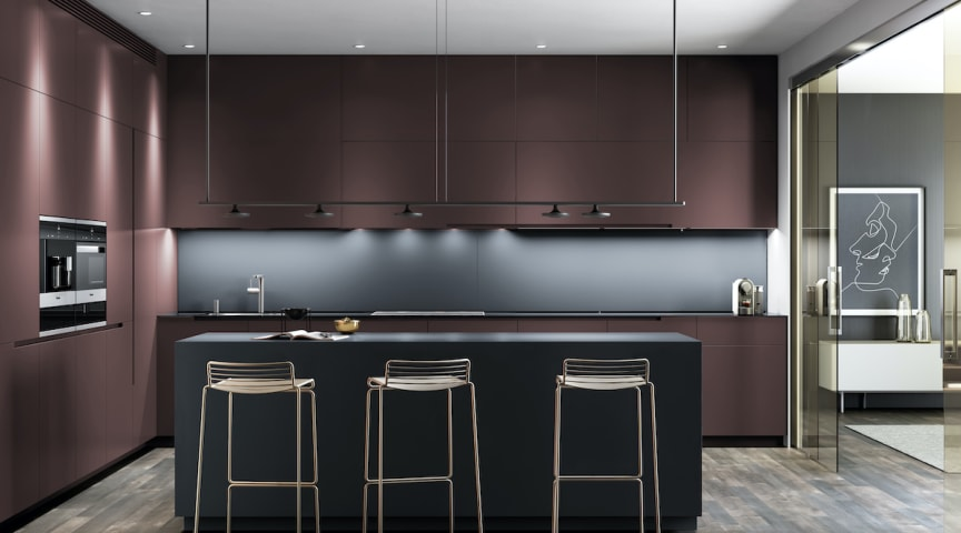 Dekton® Chromica Baltic på køkkenø & backsplash