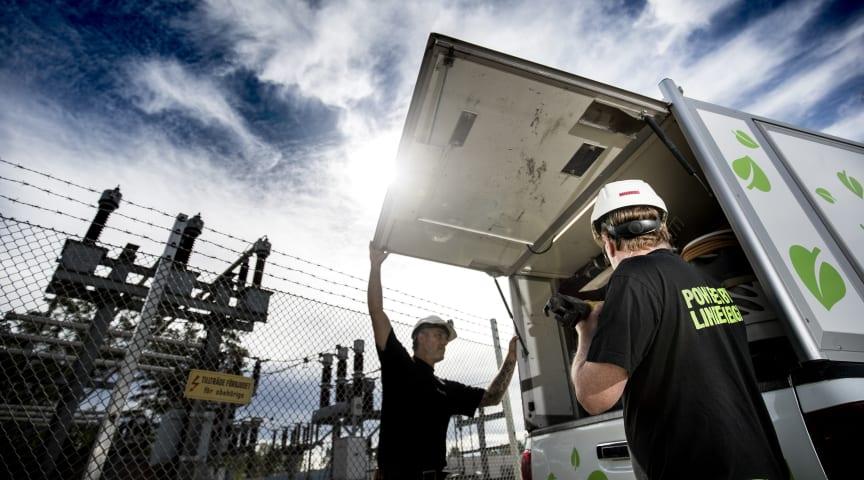 Linde energi investerar årligen flera miljoner i ett vädersäkrat elnät. Foto: Linde energi.