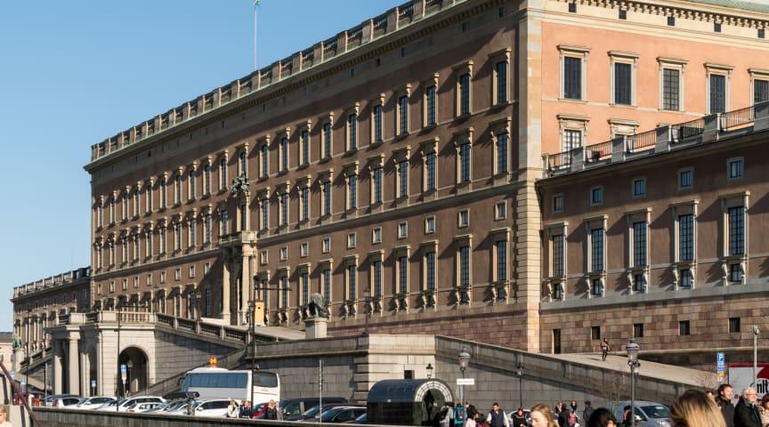 Stockholms slotts norra fasad. Foto: Peder Lindbom, AIX.
