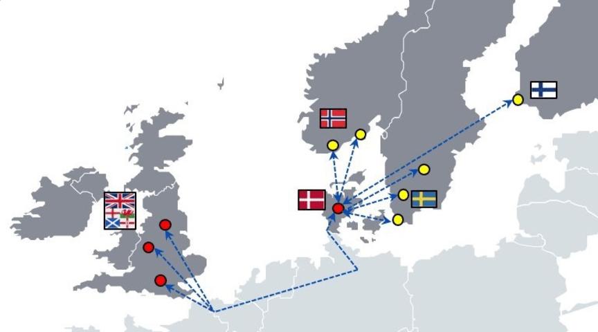 Nu ännu snabbare mellan Skandinavien och Storbritannien