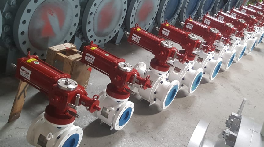 The RH range actuators, ready to be installed 70 meters below water.