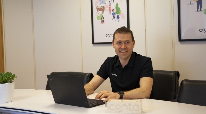 Med 100 kunder i døgnet utfordrer Conta de store konkurrentene