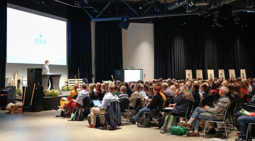 Statssekretær Widar Skogan innledet Øko2020. Foto Eva Hollander/Debio
